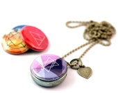 Girlfriend Gift, Girlfriend Jewelry, Girlfriend Necklace, Girlfriend Locket, Magnetic, 4 in 1, Holds Picture Inside, PERSONALIZED