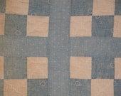 Antique Quilt Piece | Vintage Quilt Piece |  Old Quilt PIece |  Cutter Quilt Piece 11 x 12