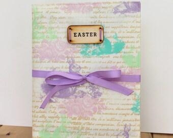 Easter photo album personalized rustic spring decor