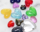 Assorted Plastic Heart Bead Mix, Lot of Loose Beads, 300 beads, Bead Soup Mix, Jewelry Supplies, Arts and Crafts Projects, Destash
