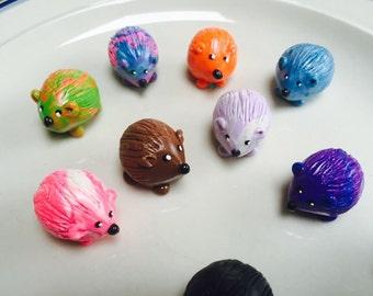 Mini marble Hedgehog of Hedgehog Bog choose your color combination