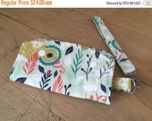 40% OFF Wristlet Wallet- Lion Garden in Green- Cotton + Steel- August-Navy- Snap Wallet- Zipper Purse- Handmade- Accessories- Lion Wallet- K