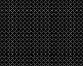 30% OFF Riley Blake Mini Quatrefoil Black - 1/2 Yard