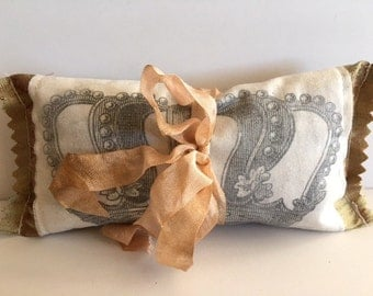 French Lavender Sachet With Vintage Crown Graphic