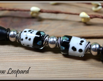 Leopard Ink Pen with Lampwork Beads