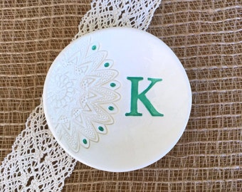 Lace Bridesmaid Gift Ring Dish,Ring Dish Monogram,Ring Dish Engagement,Ring Dish Personalized,Wedding Ring Dish Holder,Ring Dish Wedding