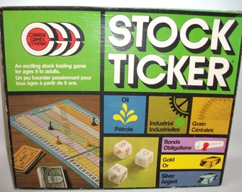 Vintage Stock Ticker Family Board Game Stock Market Oil Gold Gas Bonds