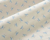 4160 - Bird Cotton Jersey Knit Fabric - 69 Inch (Width) x 1/2 Yard (Length)