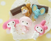 SALE 5 pc My Melody and Friends 3D Cabochon (Completed Set ) AZ284