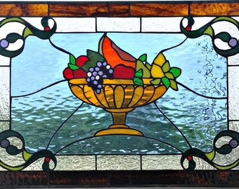"Stained glass Window - ""Fruit Basket"" (W-105)"
