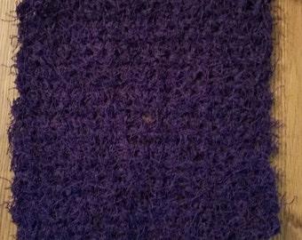 Crochet scrubbie in Grape