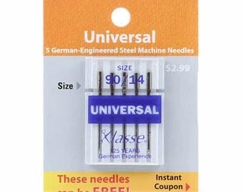 Klasse Carded Universal Machine Needle Size 14/90 5ct