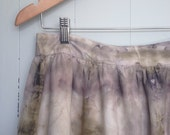 eco dyed cotton broderie anglaise skirt altered couture