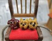 RESERVED for Jennifer - Three Big Hole Dog Beads