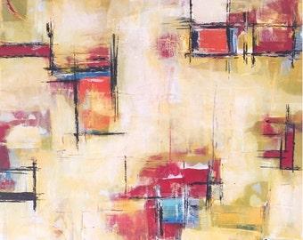 Paper Walls 24x30 original painting