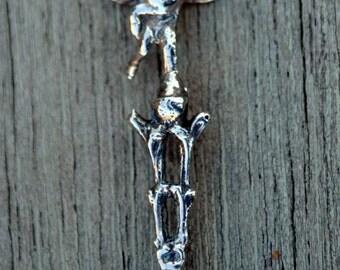 Silver Nut Pick with Cupid Finial - Cherub Angel