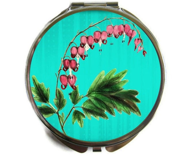 Bleeding Heart Compact Mirror Pocket Mirror Large