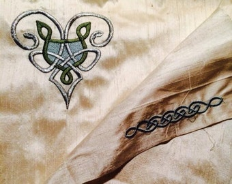 Celtic Bridal Handfasting Cloth - Celtic Love Knot -MADE TO ORDER-