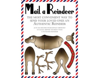 8 Mail a Reindeer Greeting Cards