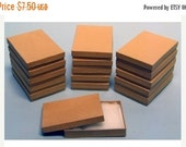 Pre Holiday Stock Up Sale 10 Pack Cotton Filled Kraft Color Jewelry Gift and Retail Boxes 5.25 X 3.75 X 1 Inch Size