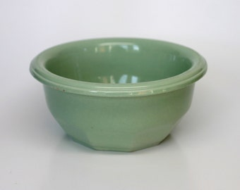 Vintage Green VITRIAN Mixing Bowl Canadian Potteries Ltd St-Jean Quebec