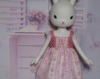 Pink Flowers Dress for Middie Blythe / Usaggie / Nikki / Odeco