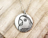 Lovebird necklace, silver lovebird  jewelry, remembrance necklace, memorial jewelry