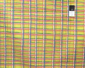 Brandon Mably BM26 Plaid Yellow Cotton Fabric By The Yard
