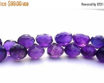50% Off Valentine day Full 8 Inches - Finest Quality African Amethyst Micro Faceted Onion Briolettes Size 6 - 7mm approx 50 - 52 pieces