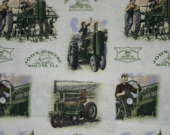 John Deere Fabric By the Yard, Quarter Yard, Fat Quarter Farm Tractor Fabric Moline Field Vintage Cotton Quilting Fabric t4/20