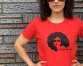 T-Shirt, Pelo Bueno, Good Hair, Natural Hair, Curly Hair, SMALL, Red