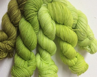 Limeades --Huggy Sock Gradient Set- Fingering Weight -120g - 575yds