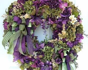 Custom made to order, Many styles, any color combination, Victorian wreath, Front door wreath, summer wreath : )