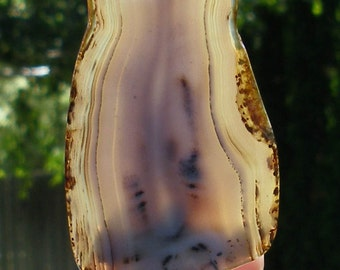 NL-250    Dendrite Agate Night Light Handcrafted Wall Light Lamp Natural Polished Stone