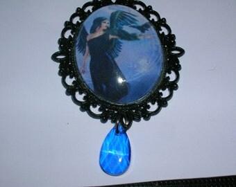 limited edition gothic angel fantasy pendant