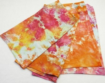 Pink Coral Ice Dyed Jersey Scarf Peach Rose Hand Dyed Tee Shirt Scarf - Ranunculus2
