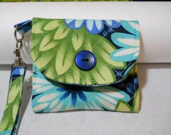 Wristlet Change Purse - Floral