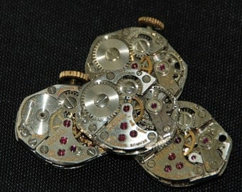 Vintage Watch Movements Parts Steampunk Altered Art Assemblage CD 32
