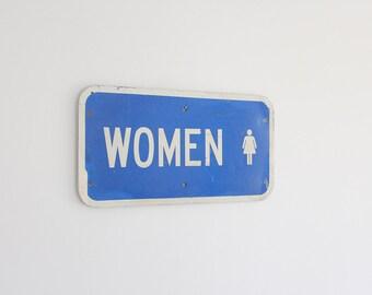 Midcentury Women Restroom Sign Graphic