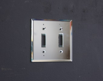 Glam Mirrored Vintage Light Switch Plate