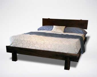 king bed frame etsy - Solid Wood Platform Bed Frame King