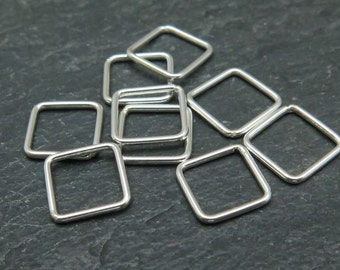 Sterling Silver Square Connector 8mm (CG7986)