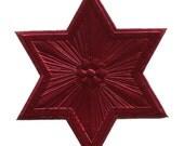 Dresden Trim Extra Large Star Burgundy Germany 1 Die Cut Christmas DF 5021 BU