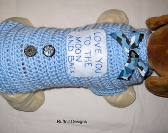 "XS ""Love You To The Moon And Back"" Dog Sweater New"
