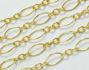 14K Gold Filled Medium Size Bulk Chain With 3.5mmx7.5mm link 5 FEET