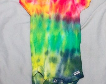 Multi-Color Tie Dye Onsie 6-9 Months