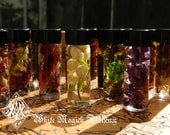 Alchemist Tree Mini Spell Oils with All Organic Herbs, Flowers, Woods, Resins, Crystals and Essential Oil
