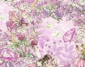 Flower Fairy Cicely Mary Barker Petal Pink Fairies fabric 1 yard