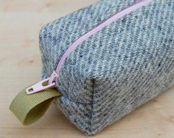 Striped Wool Tweed Sm CA Roll (pencil or makeup case)
