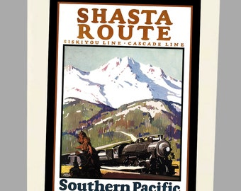 Shasta Route Railroad 6 Folded Note Cards - with envelopes